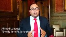 Ahmed Laaouej, tête de liste PS à Koekelberg en 2018