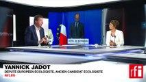 Yannick Jadot, député européen écologiste, soutien des candidats écologistes aux législatives.