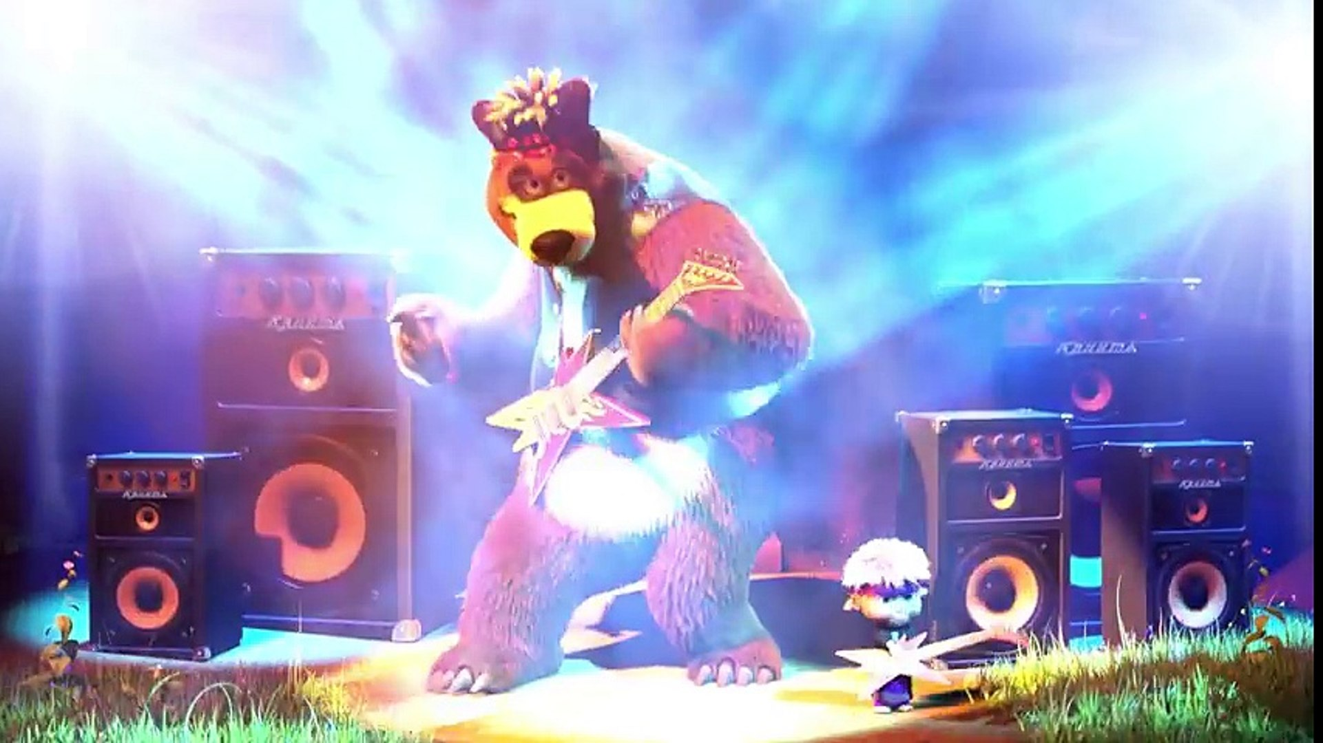 Маша и Медведь - Песенка друзей (Музыкальный клип из мультфильма Маша и Медведь)