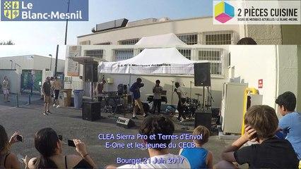 CLEA/Sierra Prod/Terres d'envol au Bourget E One et jeunes du CECB  21 Juin 2017