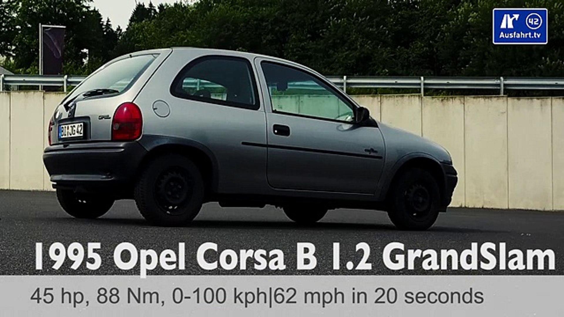 100 Kph To Mph >> 1995 Opel Corsa B 1 2 45 Ps Grand Slam 0 100 Kmh Kph 0 60 Mph Tachovideo Beschleunigung Acceleration