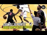 Lou Williams Scores 50 POINTS While SHIFTIN DUDES & RAININ' 3s!! & BREAKS Drew League Record!