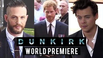 DUNKIRK Premiere Harry Styles | Tom Hardy | Prince Harry