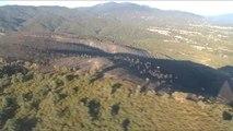 Un incendie ravage la forêt des Pyrénées Orientales - France