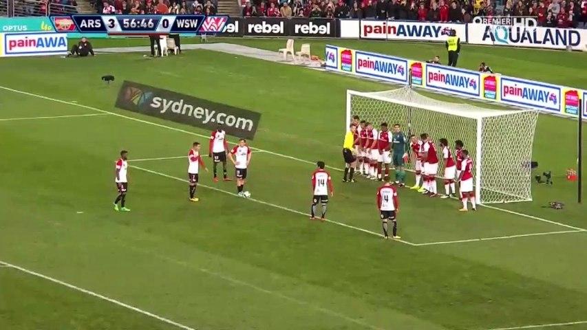 1-3 Steven Lustica Free Kick Goal HD - Western Sydney Wanderers 1-3 Arsenal 15.07.2017