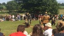 Reconstitution d'une bataille médiévale