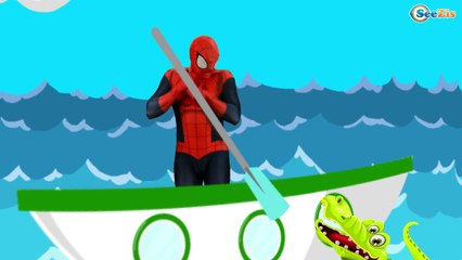 Row Row Row Your Boat | Baby Song for Children from Superman Spiderman
