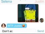 Justin Bieber Tells Selena Gomez He Still Sleeps With His Ex Hailey Baldwin  Texting Story