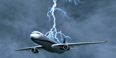 Amazing Airplane Struck By Lightning - Plane Crash