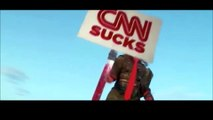 Trump Brave Heart and Rocky Trump; CNN, NBC, CBS
