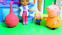 Enfants pour dessins animés sur russe Peppa Pig Doll en peluche merde merde un pantalon de docteur lavements