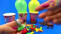 Et des ballons tasses amis gelé cheval porc homme araignée jouet Thomas surprise popping peppa masha