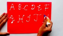 How to Write Alphabet Tracing, Capital Letters A B C D