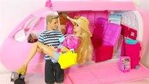 Barbie & Ken Morning Routine Travel Routine Barbie Pink Bedroom- Barbie e Ken viagem
