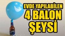 Balon ile yapabileceğiniz 4 süper deney - Balon patlatma oyunu #balon #oyun #deney