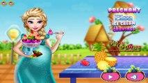 Permainan Elsa Frozen Hamil-Mengandung Memasak Es Krim-Online Games-Pregnant Elsa Ice Crea