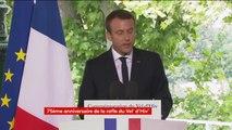 """""""Si je suis ici, c'est pour que se perpétue le fil tendu ici en 1995 par Jacques Chirac"""