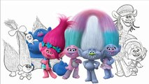 Trolls Movie Coloring and Painting Charers Dreamworks Troll Art Coloring Page