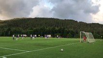 Caner Erkin'den hazırlık maçında harika frikik golü