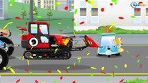Tracteur Petit pour enfants. Dessin animé voiture. Vidéo éducative de voitures