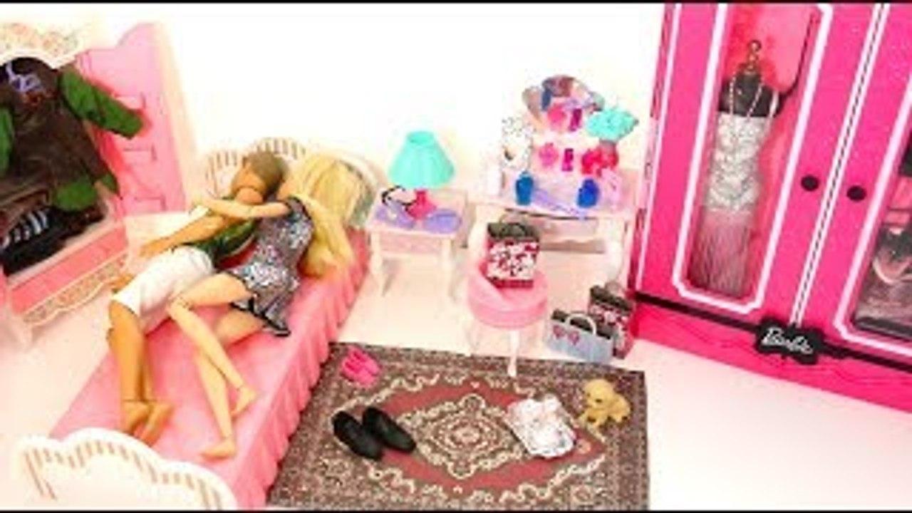 Barbie Pink Bedroom Barbie Ken Morning Routine باربى روتين صباحى Rotina Da Manha Barbie Ken Dailymotion Video