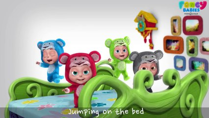 Five Little Monkeys Jumping On The Bed - Fancy Babies Nursery Rhymes - 3D Rhymes For Babies