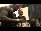 mma vs boxing cain velazquez and boxing champ deontay wiler meet - esnews boxing