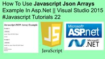 Tutorial on JSON: Syntax, Arrays and Nested JSON Data Course