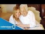 Thalía le paga pensión a su abuela Eva Mange / Thalía pension pays her grandmother Eva Mange