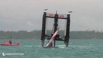 Violent chavirage d'un bateau de la coupe de l'America ! Team New Zeland