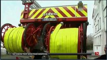 Montcuq - Reportage JT M6 : Montcuq trop étroit pour les Pompiers