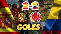 España vs Colombia Amistoso 2017    Goles -Marcador Final 2-2