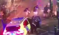 CCTV shows police opening fire on London Bridge attackers – video