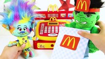 Trolls Branch Eating McDonald's Happy Meal with Poppy, PJ Ma