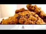 Receta de galletas de avena con chispas de chocolate / Oatmeal cookies with chocolate chips