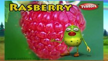 Rasberry | 3D animated nursery rhymes for kids with lyrics  | popular Fruits rhyme for kids | Rasberry song | Fruits songs |  Funny rhymes for kids | cartoon  | 3D animation | Top rhymes of fruits for children