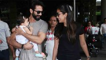 Shahid Kapoor & Mira Rajput Spotted With Misha At The Airport