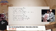 Don't Go Breaking My Heart - Elton John & Kiki Dee Drums Backing Track with chords and lyrics