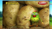 Potato   3D animated nursery rhymes for kids with lyrics    popular Vegetables rhyme for kids   Potato song    Vegetables songs   Funny rhymes for kids   cartoon    3D animation   Top rhymes of Vegetables for children