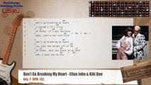 Don't Go Breaking My Heart - Elton John & Kiki Dee Guitar Backing Track with chords and lyrics