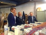 Beauvais : François Baroin visite l'entreprise Télecoise