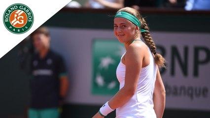 Roland-Garros 2017 : 1/2 finale Ostapenko - Bacsinszky - Les temps forts