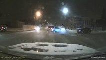 Quand tu sais pas conduire... Gros choc sur un croisement !