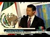 Para Peña Nieto el país debe avanzar en desarrollo