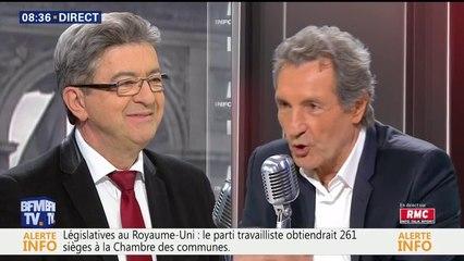 Jean-Luc Mélenchon face à Jean-Jacques Bourdin sur BFMTV le 09/06/2017
