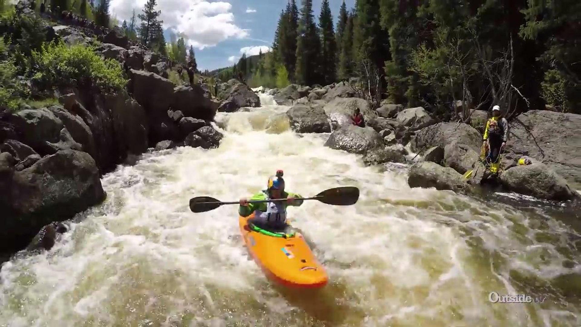 Rafa Ortiz at the Coors Light Steep Creek Championships | GoPro Mountain Games