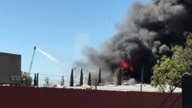 Crews Battle Large Fire at Chemical Supply Shop in Anaheim