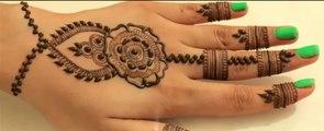 Mehndi Design Video- Kaise Lagaye Henna Mehendi Apne Hatho pe Sirf 3 mint mein(Floral Embellishment)