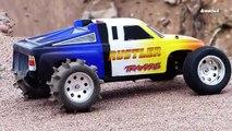 137.Traxxas Rustler Electric RC Car - Hill Climbing