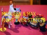 Toy MCQUEEN & MAX FIGHT OVER STREETS + SWIPER DORA THE EXPLORER BENNY CARS 3 MINION TSLOP DISNEY
